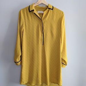 Loft yellow mustard dress